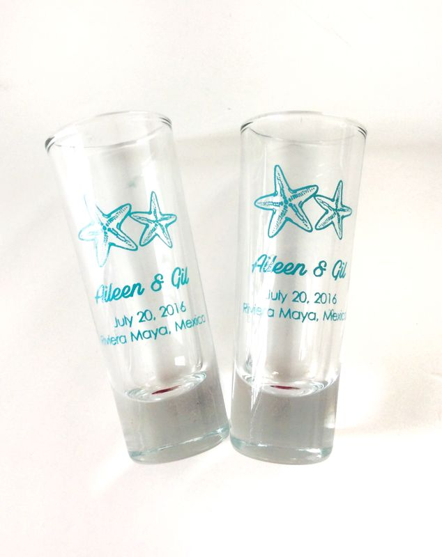 Tequileros de vidrio personalizados