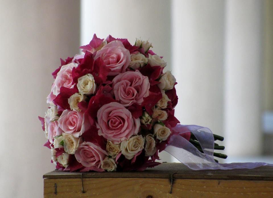 Bouquet de Noiva Nude e Cor-de-Rosa