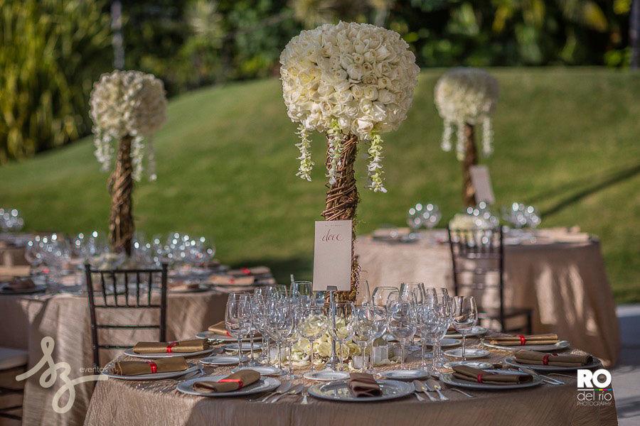 Montaje para boda en Jardin Rojo Azafran