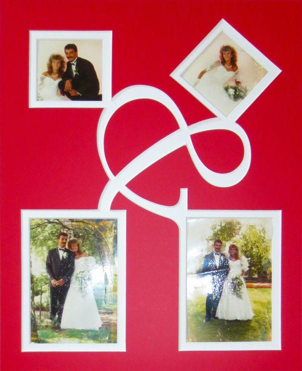 Beispiel: Hochzeitspassepartout, Foto: Bilderrahmen Lange.