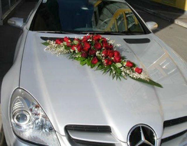 Beispiel: Autoschmuck, Foto: Blumen-Boutique-Wingen.