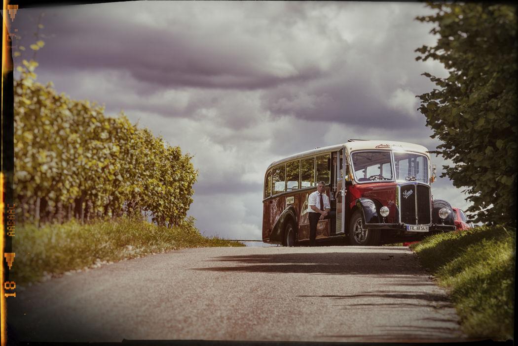 Hochzeitsgäste Bus