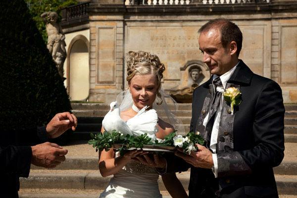 Beispiel: Romantik pur, Foto: Hochzeitstauben Dresden®.