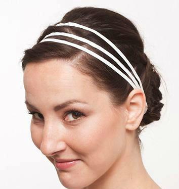 Beispiel: Dreigliedriges Haarband aus Seide, Foto: JAAP Accessoires.