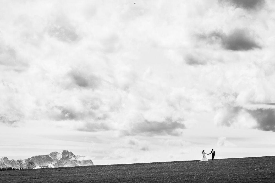 Bernried, im Hintergrund Zugspitze