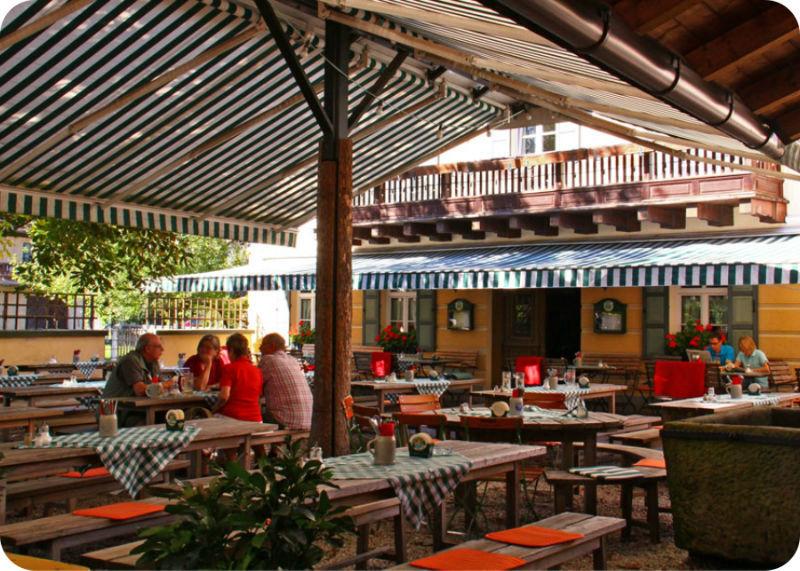 Beispiel: Biergarten, Foto: Gasthaus Inselkammer.
