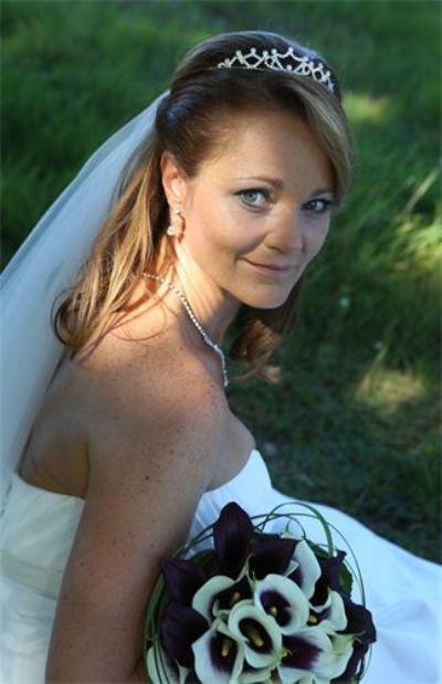 Beispiel: Brautfrisur, Foto: Anjas Homecut.