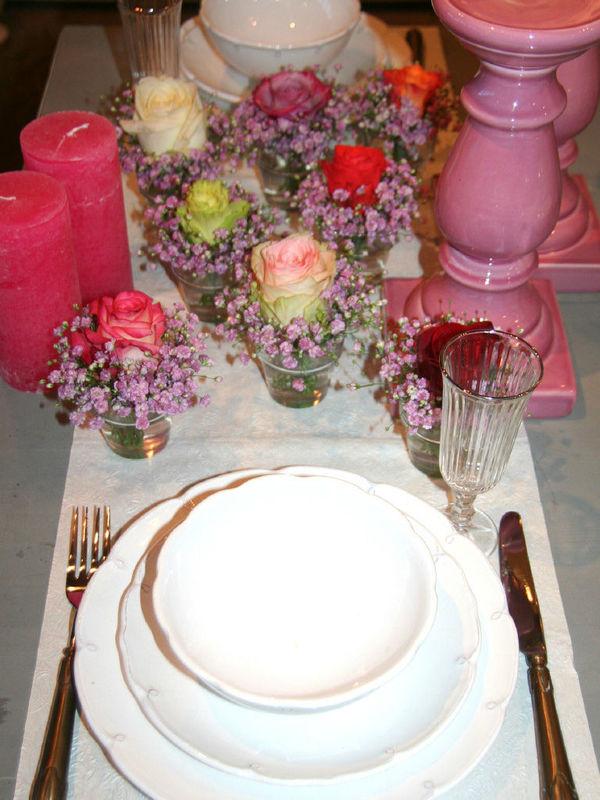 Beispiel: Tischdekoration, Foto: Art Fleur – Floristik aus Holland.