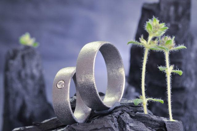 Beispiel: Verlobungsringe, Foto: Elfenmetall.
