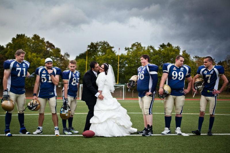 Beispiel: Hochzeitsfotografie mit Wirt, Foto: Franco Baroni.