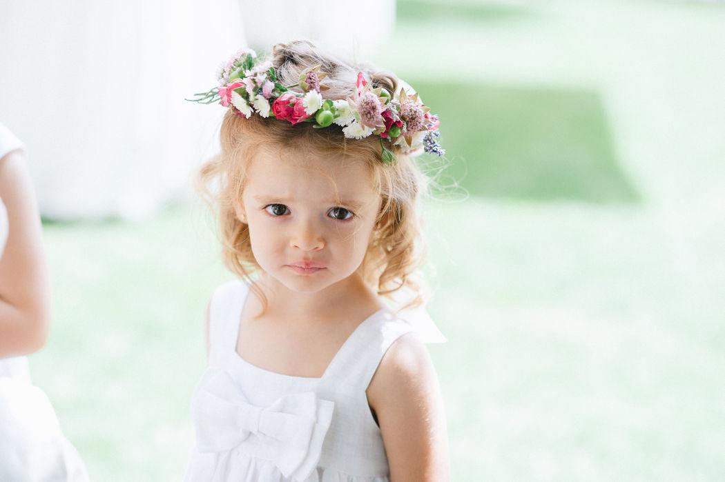 coronas de flores naturales para pajecillos