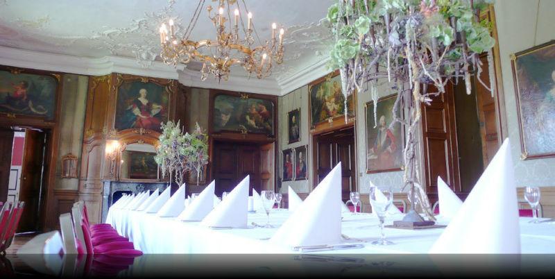 Beispiel: Hochzeitstafel, Foto: Wasserschloss Lembeck.