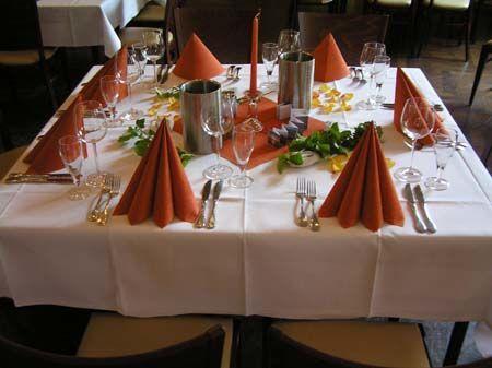 Beispiel: Hochzeitsgedeck, Foto: Der Legienhof.