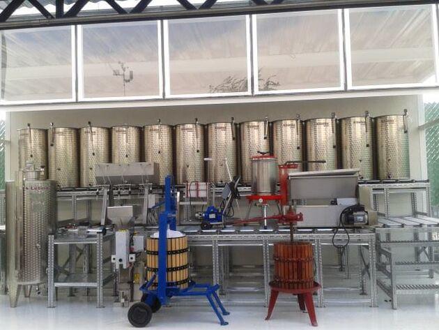 Vinícola Urbana, area de fabricación del vino