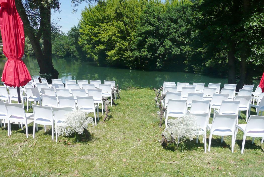 Cérémonie de mariage en bord de Charente