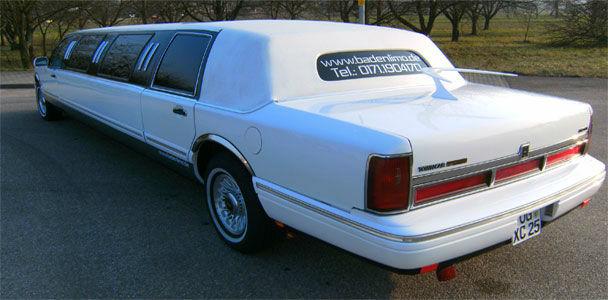 Beispiel: Lincoln Limousine, Foto: Badenlimo.de.