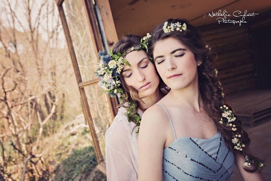 Moovcoiffure34 bride coiffure bohème chamêtre Crédit photo Nathalie Codant