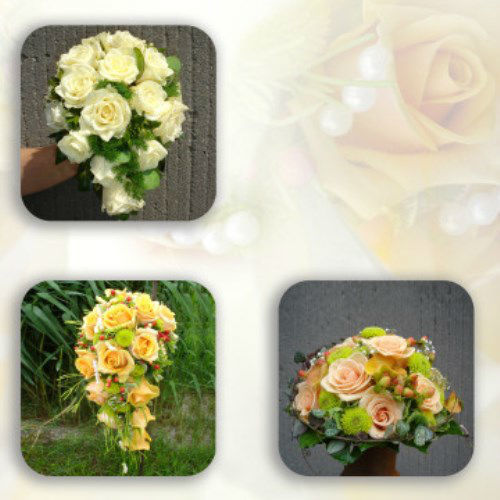 Beispiel: Brautsträuße, Foto: AZ- Floristik und Dekoration.
