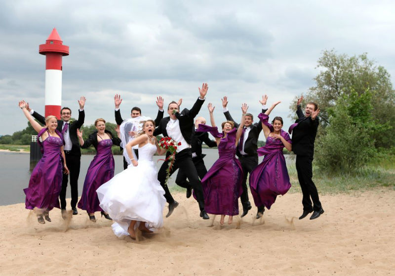 Beispiel: Witzige Gruppenfotos, Foto: Doerte Eilers Fotografie.