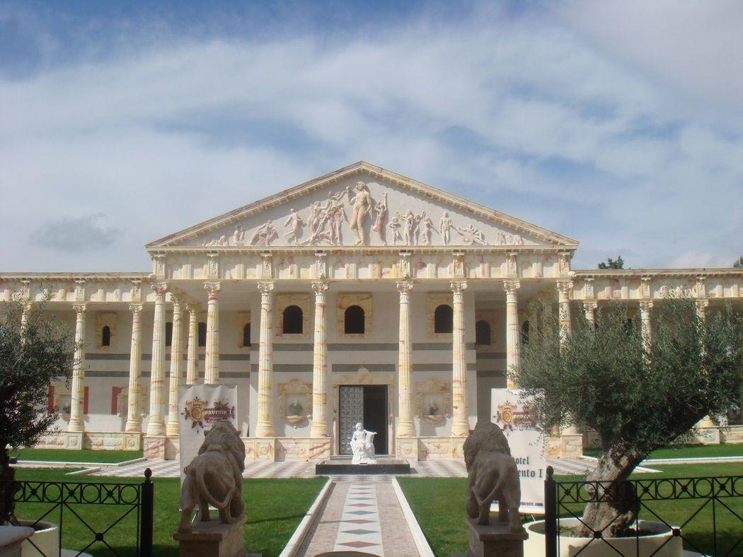 Jardín olivos Partenon. Coctel. Ceremonia Civil exterior del Hotel Spa Convento I