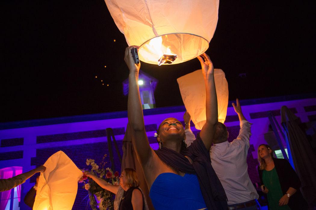 Lancée de lanternes