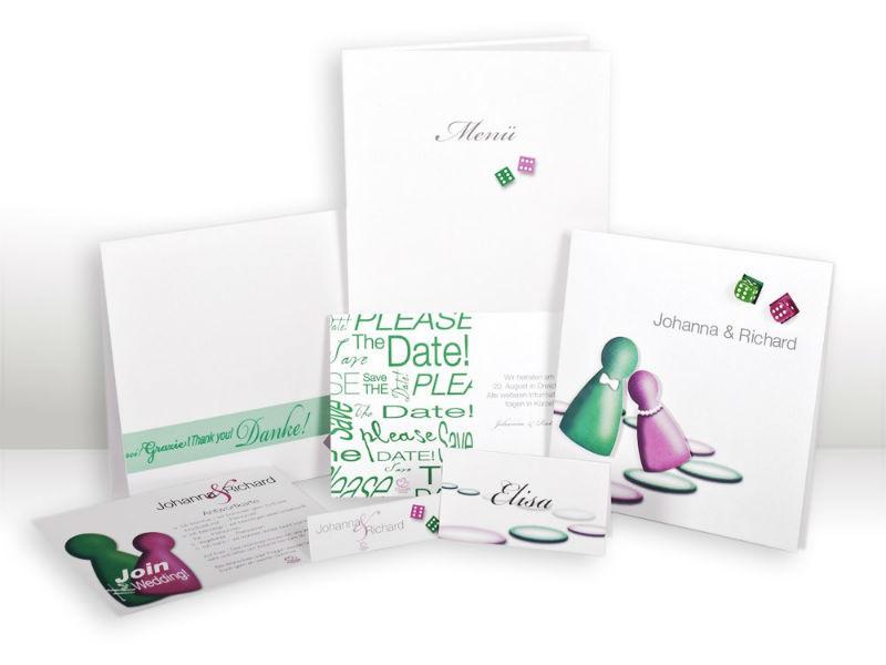 Beispiel: Kartenset Serie Liebesglück, Foto: Cloud9 Design.
