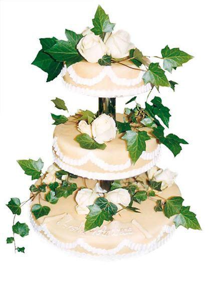 Beispiel: Hochzeitstorte, Foto: Konditorei Fastert.