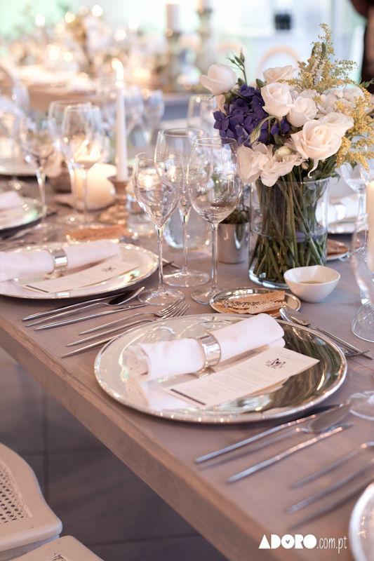 Mesas e arranjos florais