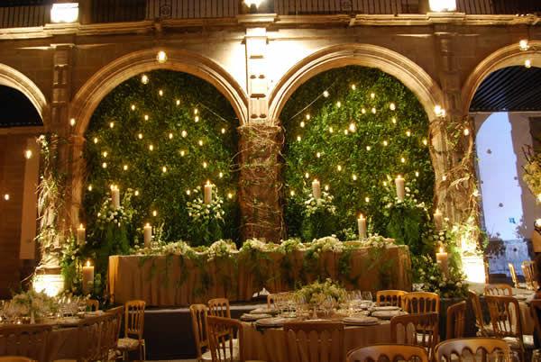 Ambientación y decoración de boda Foto: Ex Convento de San Hipólito