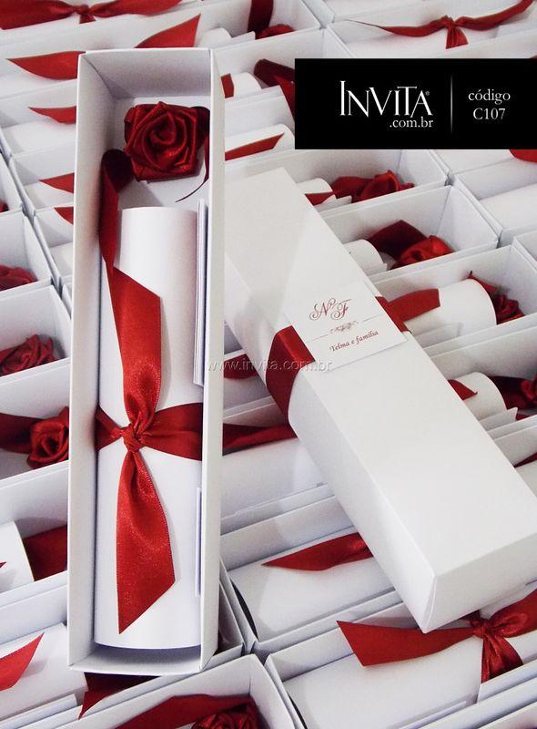 Convite de Casamento Caixinha - Cód.: C107