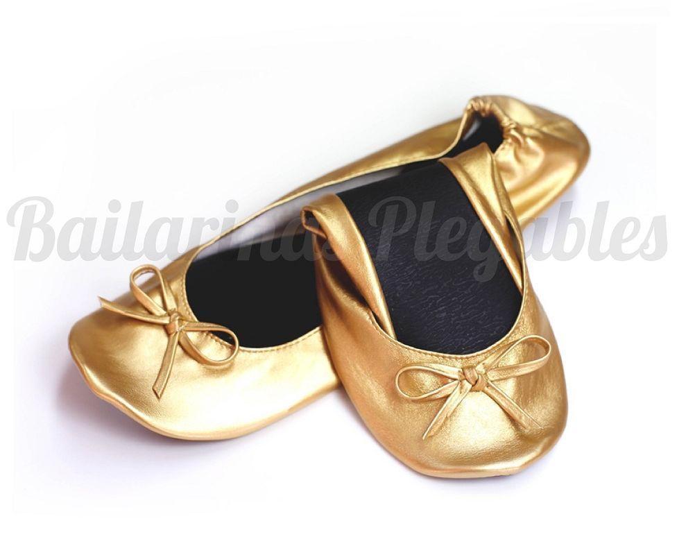 Bailarinas Plegables Oro