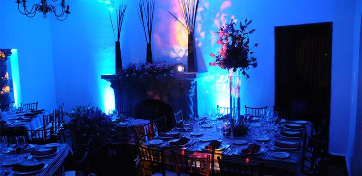 Decoración y banquetes de boda para noche - Foto Casa Colima