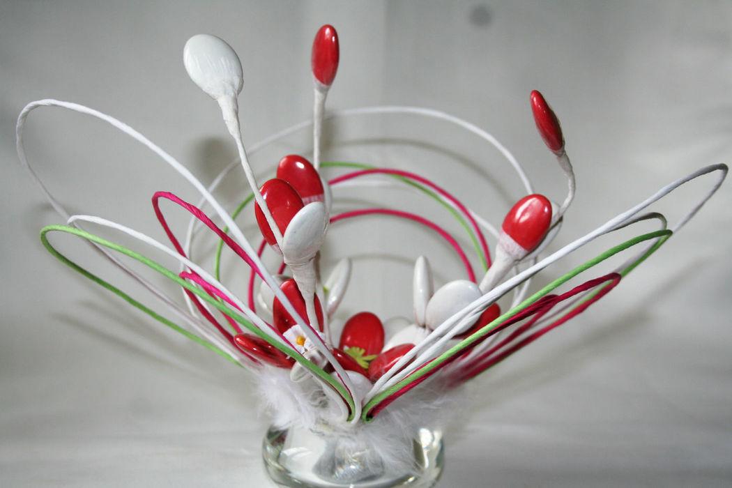 Dragées Fleuries Rosace, centre de table