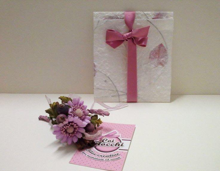 Coi Fiocchi wedding design - partecipazione di nozze in carta naturale