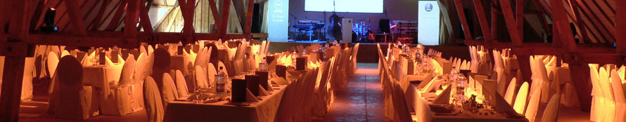 Beispiel: Eventdekoration, Foto: Gutshof Woldzegarten.