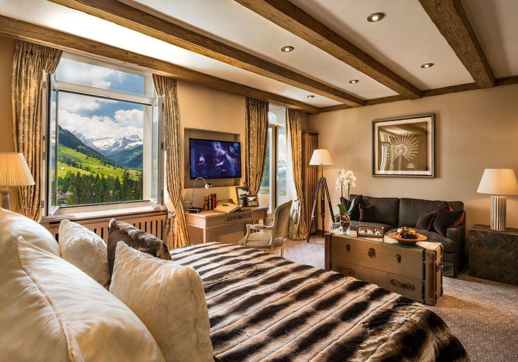 Beispiel: Zimmerbeispiel, Foto: Gstaad Palace.