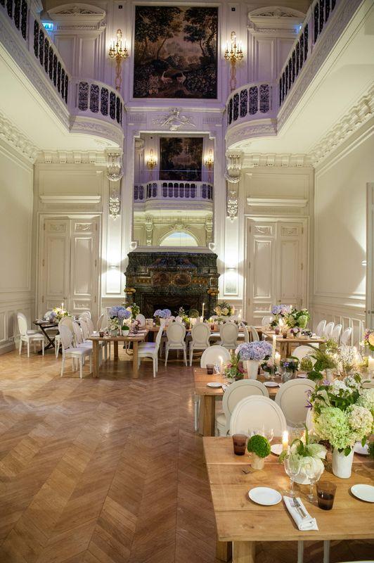 Mariage de Joanna & Julein au Salon Salomon de Rothschild, fleurs Gilles Pothier, copyright Stéphane Lariven