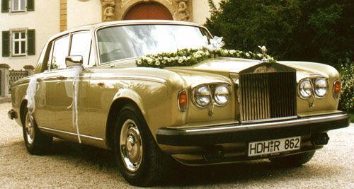 Beispiel: Rolls Royce Silver Shadow II, Foto: Classic Car Chauffeur Service.
