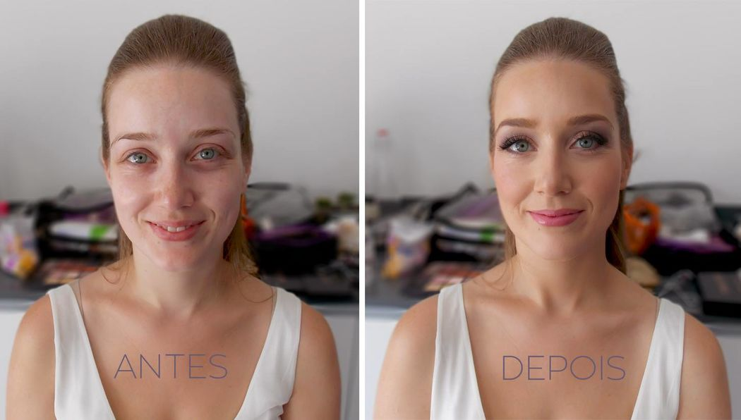 Makeup Antes e Depois Noiva 2016
