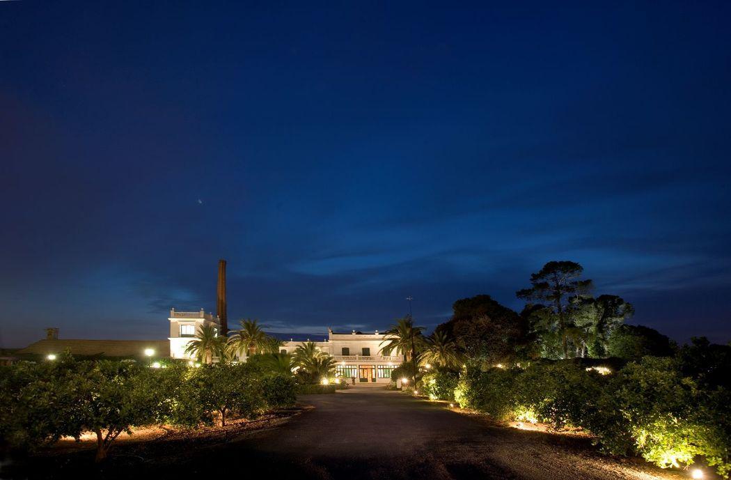 Vista Panorámica de Campo Aníbal de Noche