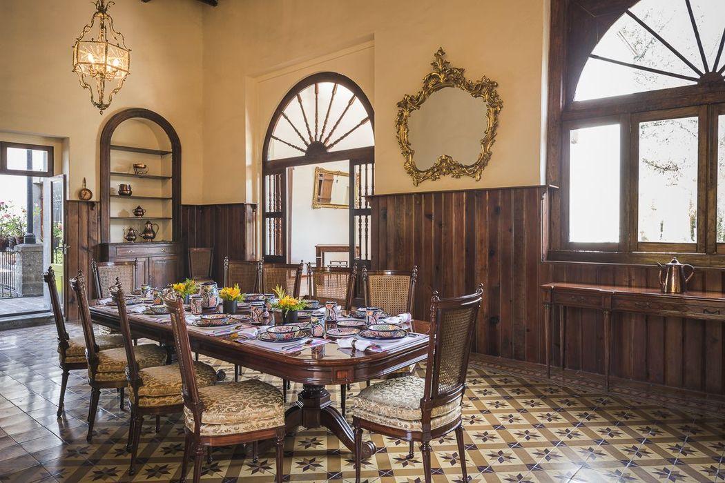 Comedor Hacienda Pedregal, un espacio ideal para comidas.