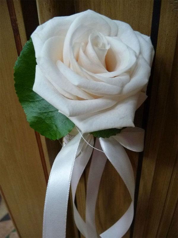 Beispiel: Weiße Rose, Foto: Floristeria.