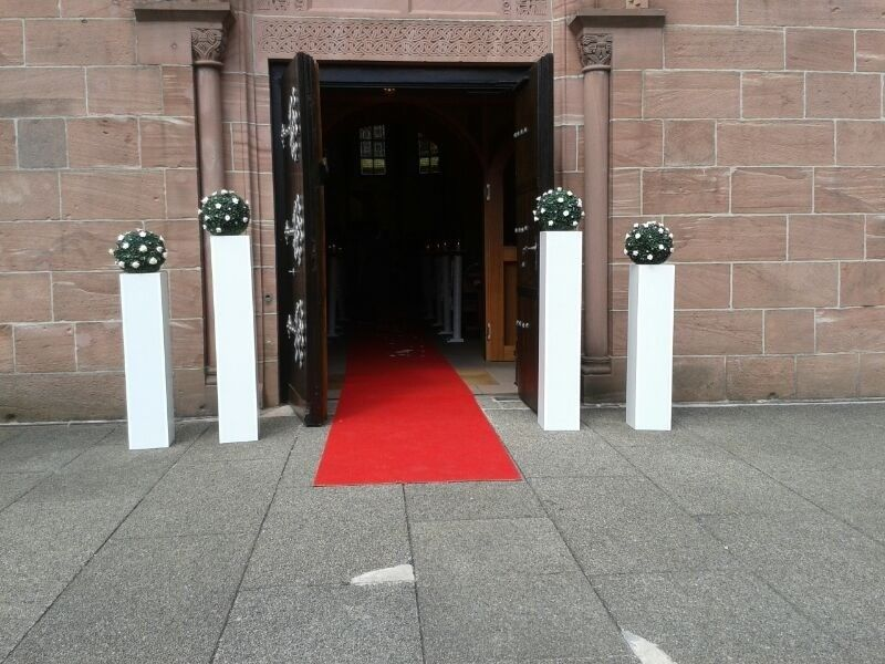 Beispiel: Eingangsdekoration, Foto: Dilara's Eventdeko.