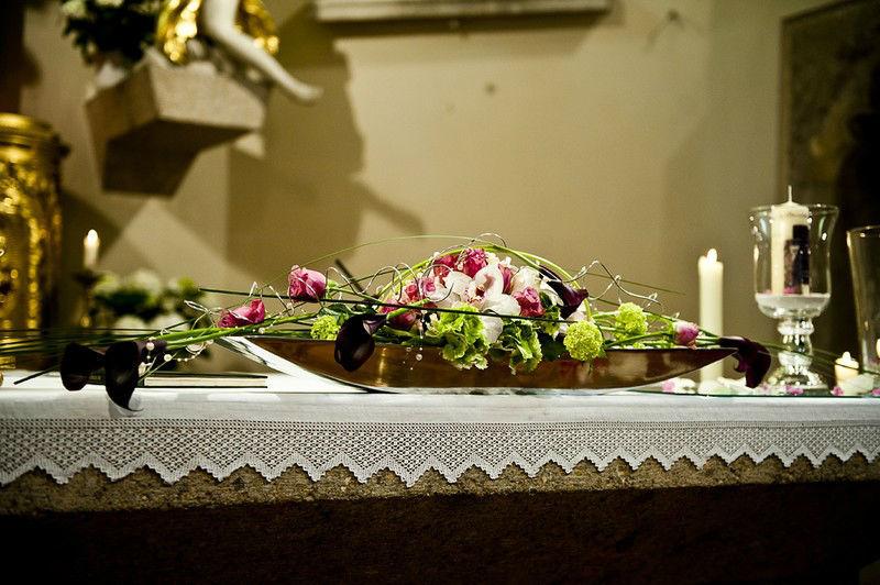 Beispiel: Blumenschmuck, Foto: Die Blumenfabrik.