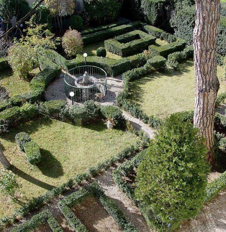 Vista del Giardino all'Italiana