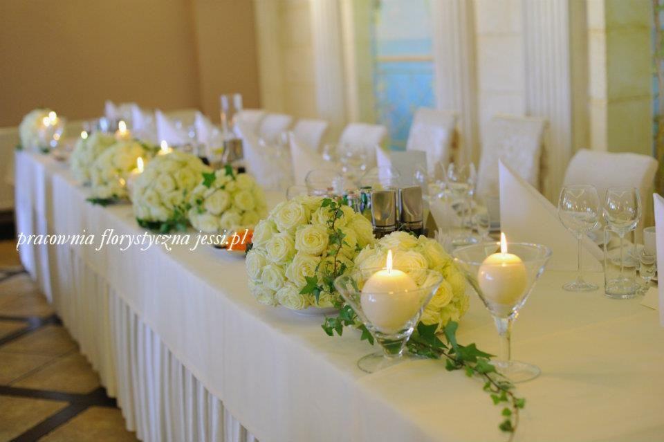 dekoracja stołu #bialeroze