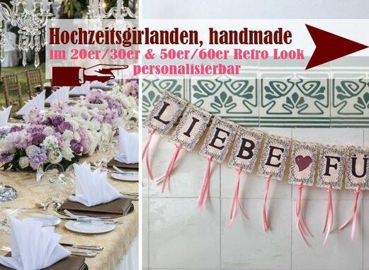 handgefertigte Hochzeitsgirlanden im Vintage Look - LoveLi Hochzeitsplanung Onlineshop