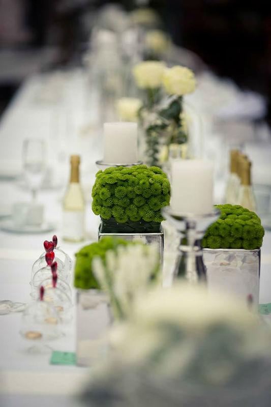 Beispiel: Dekoration für Ihren Hochzeitstisch, Foto: May Garden.