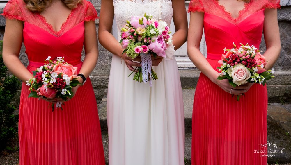 Sweet Félicité Photographie Demoiselles d'honneur/bridesmaids/bouquet de la mariée/ Bretagne