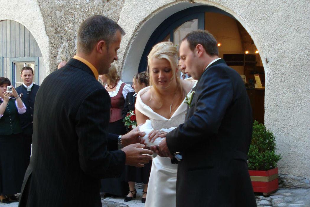 Beispiel: Festlicher Akt, Foto: Hochzeitstauben Fleckner.